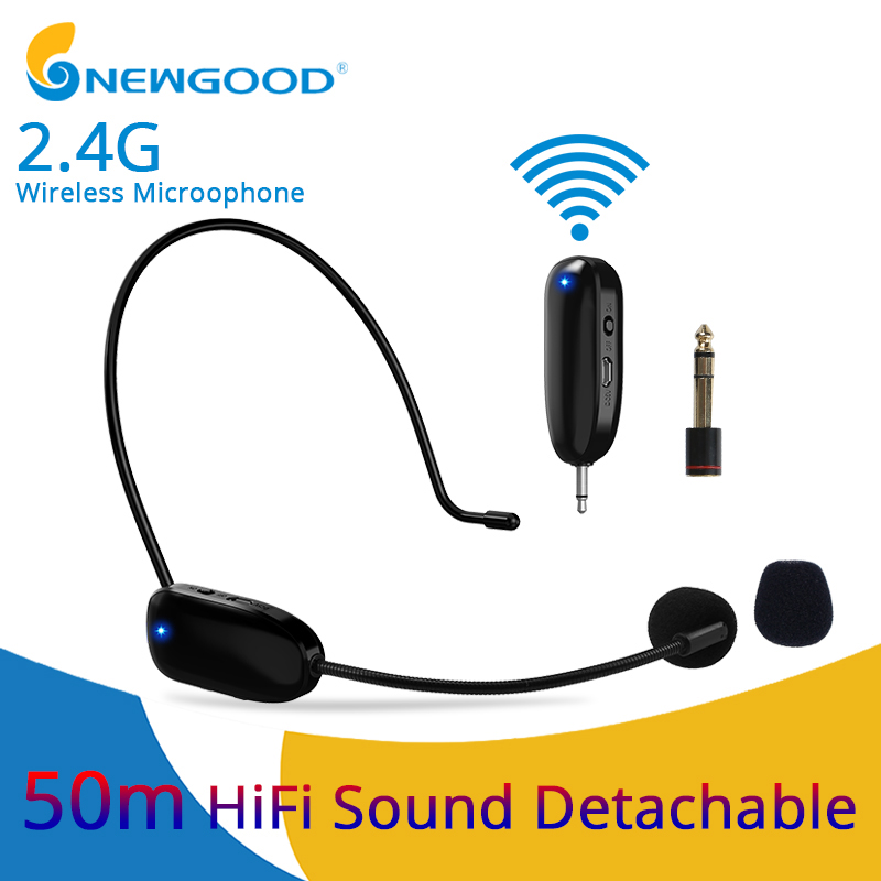 Aggressive Microphones 2.4g Wireless Microphone For Speech Voice Amplifier Wireless Mic For Loudspeaker Teaching Meeting Guide Mic For Pc Superior Materials
