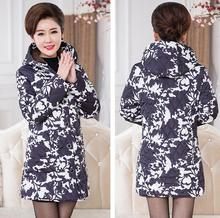 Coat New Autumn And Winter Fashion Women Cotton Coat Plus Size Hooded Long Slim Down Middle-aged Padded Jacket Outwear цены онлайн