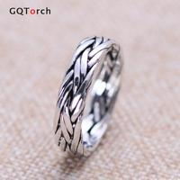 Vintage 925 Sterling Silver Braided Ring For Men And Women Thai Silver Processd Wholesale Jewellery For