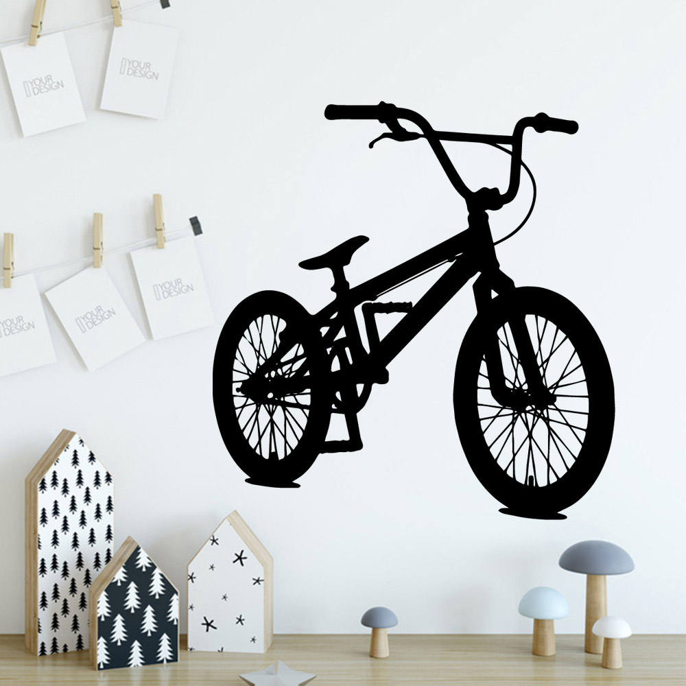 Fun Bycicle Vinyl Wallpaper Roll Furniture Decorative For Kids Rooms Home Decor Decal Mural