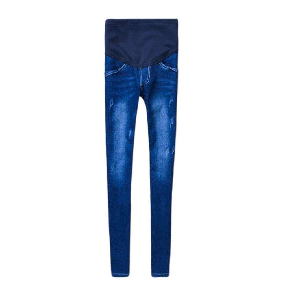 OUTAD беременных джинсы для беременных Для женщин эластичная Хлопковые джинсы джинсовые узкие брюки для беременных Брюки Одежда Плюс Размеры ...