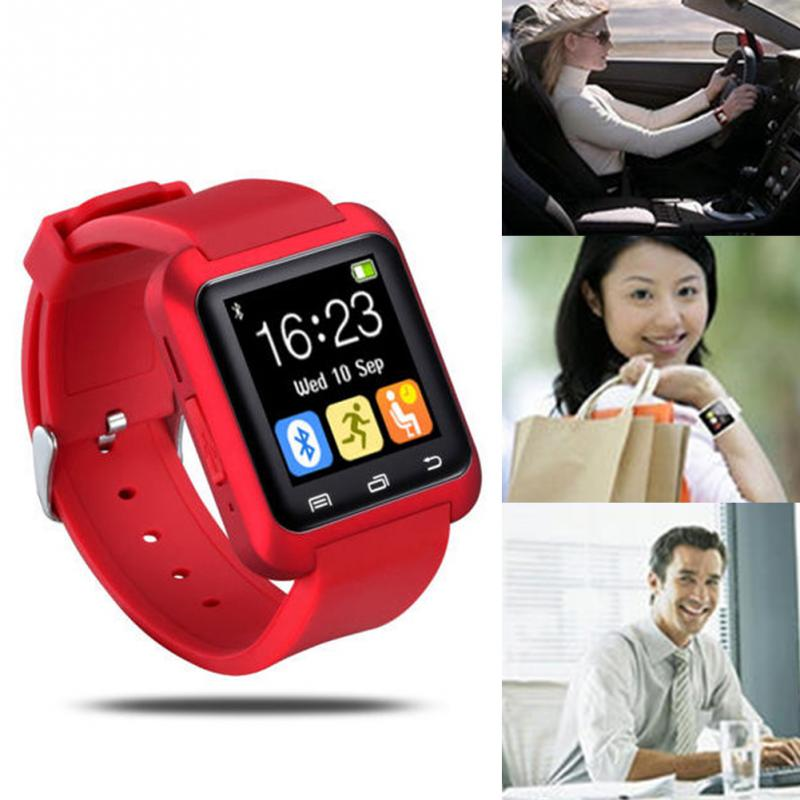 цена U8 Smart Bluetooth Wrist Watch 3 Colors Fashion Men Women Watch U Watch For Android Samsung S4/Note2/3 HTC LG Sony