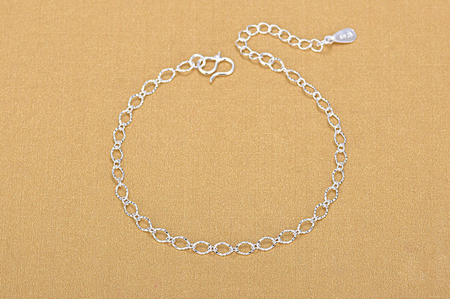 Женский браслет цепочка с геометрическим рисунком из стерлингового