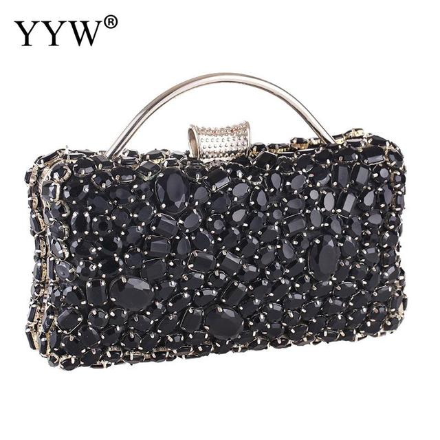 Luxury Women S Handbags With Fake Rhinestone Silver Wristlet Bag For Top Handle Bags Famous