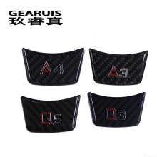 Car Styling Carbon Fiber Stickers Steering Wheel Decoration Car Covers For Audi A4 B7 B8 A1 A3 8v A5 A6 C5 C6 C7 A7 A8 Q3 Q5 Q7