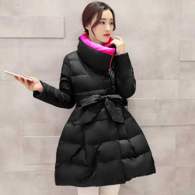Winter Women Parka Thicken Warm Jacket Coat Slim A-Line Wadded Outerwear Stand Collar Female Medium Long Down Jacket A4616 цены онлайн
