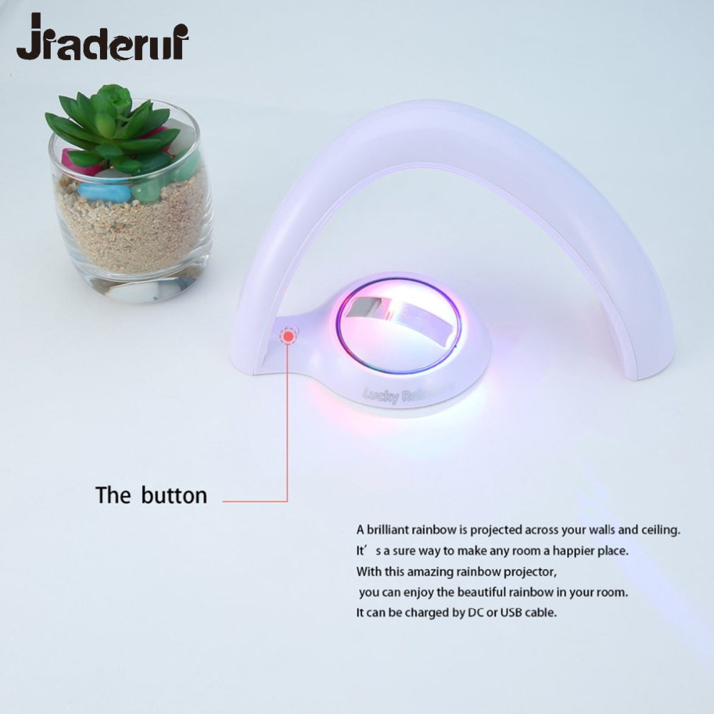 Jiaderui 3D Night Lights Rainbow Lights Amazing Rainbow Projector Led Lamp Baby Room Night Light Projector Home Decoration Light