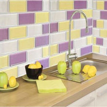 Wootile 2017 New design Easy clean and Removable tile peel stick DIY vinyl Wall tiles for kitchen wall decoration,pack of 20