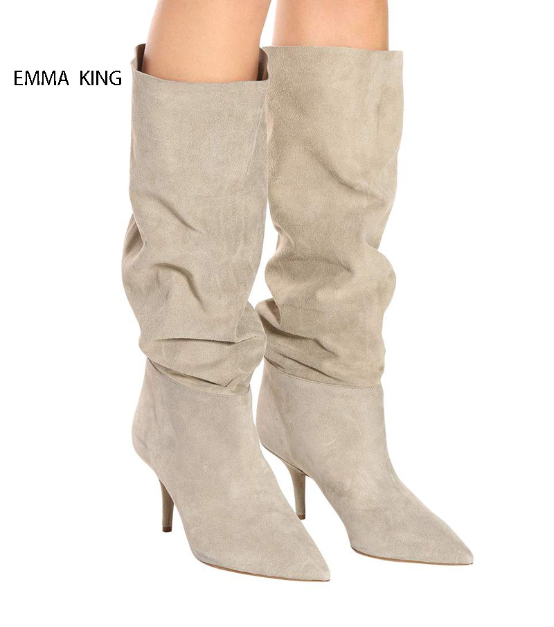 Stylish Winter Boots Women Zapatos De Mujer Pointed Toe Knee High Martin Boots Sexy Thin High Heels Botas Mujer Stage ShoesStylish Winter Boots Women Zapatos De Mujer Pointed Toe Knee High Martin Boots Sexy Thin High Heels Botas Mujer Stage Shoes