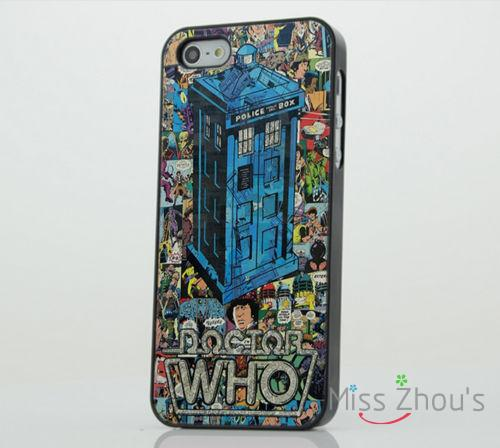 Doctor Who Tardis Police Box back skins mobile cellphone cases for iphone 4/4s 5/5s 5c SE 6/6s plus ipod touch 4/5/6