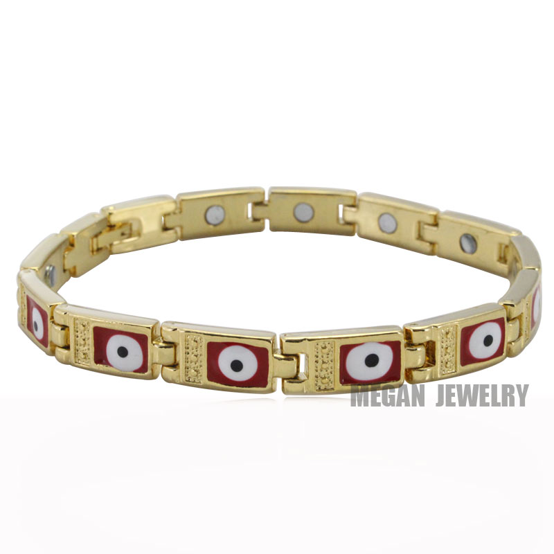 muslim turkish Evil Eye stainless steel Bracelets for man & women , High Quality islam religion gift & jewlery