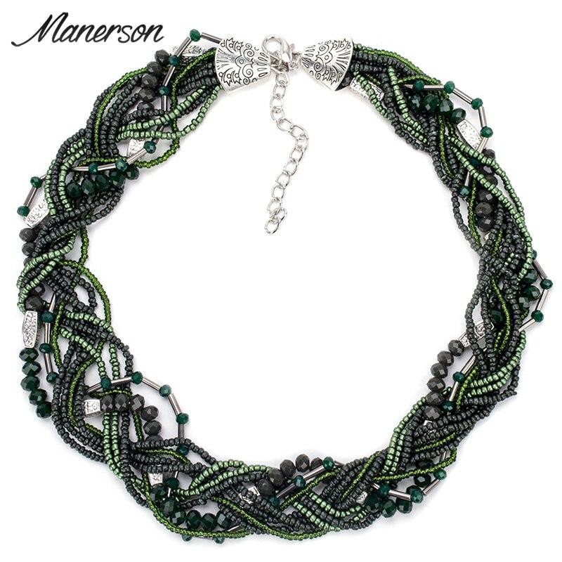 ₪2017 Fashion Boho Round Beaded Necklace Pendant Bohemian Handmade ...