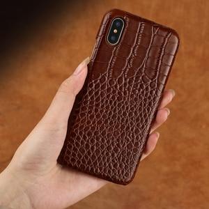 Image 4 - Telefon kılıfı Için iphone X 6 6 s Inek Deri iphone 7 7 p 8 Artı kılıf için Timsah Desen 6 p 6sp kılıf Sert Kapak