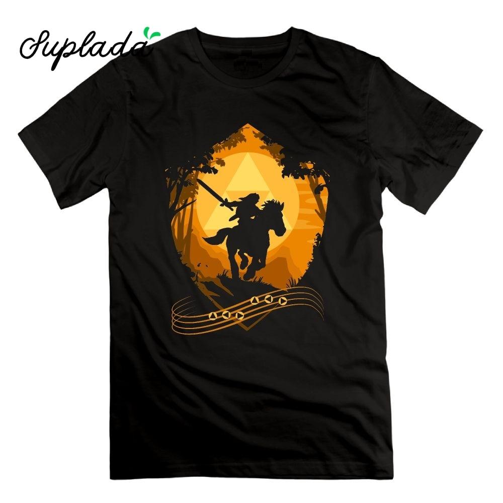 Suplada The Legend Of Zelda Eponas Song T-Shirts Vintage Short Sleeves 100% Cotton Tees Crewneck Adult High Quality T Shirt