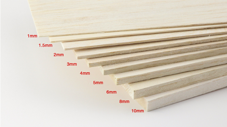 AAA+ Balsa Wood Sheet ply 500mm long 100mm wide 1/1.5/2/3/4/5/6/8/10mm thick for airplane/boat model DIY