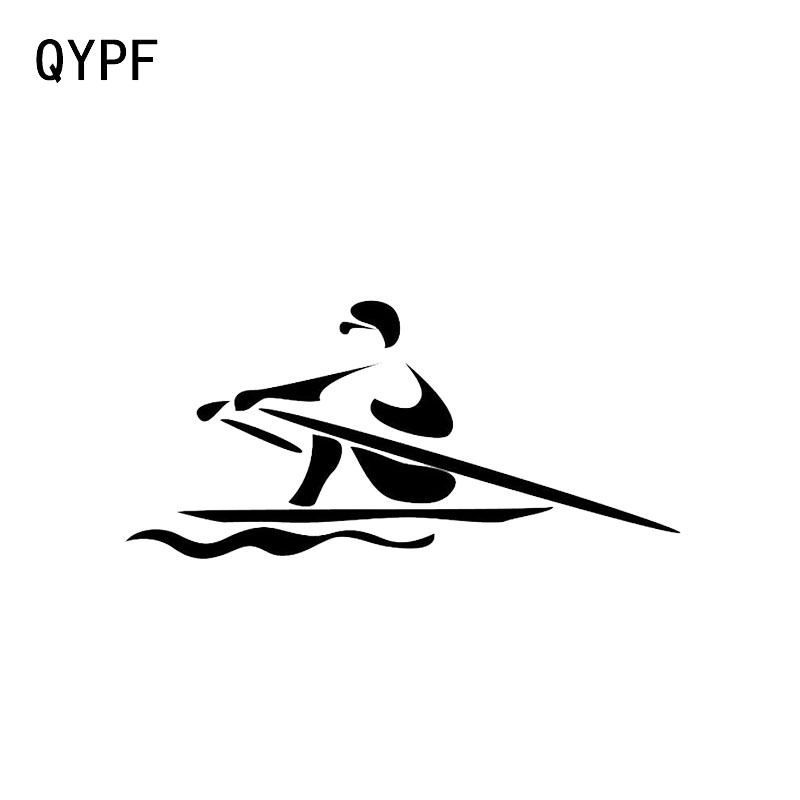 QYPF 15.8*7.5CM Interesting Rowing Decor Car Sticker Vinyl Accessories Extreme Movement C16-1241