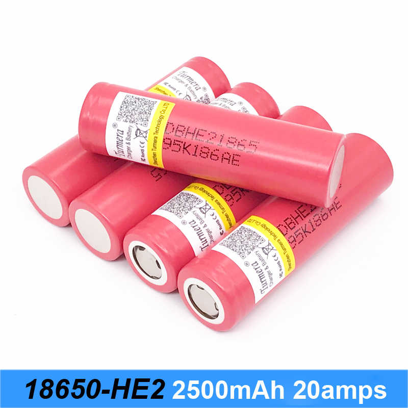 18650 battery mod he2 18650 2500mAh INR18650-HE2 20a battery for screwdriver tools battery electric cigarette mod battery o31