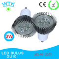 10pcs/lot Free shipping retail 3W GU10 led spotlight high power led spot light indoor light 100-240V AC available RoHS CE
