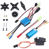 4800KV Brushless Motor Kit & 25A ESC + Servo For WLtoys 1/18 RC Car A959 A949 A969 A979 K929 Upgrade Parts Replacement