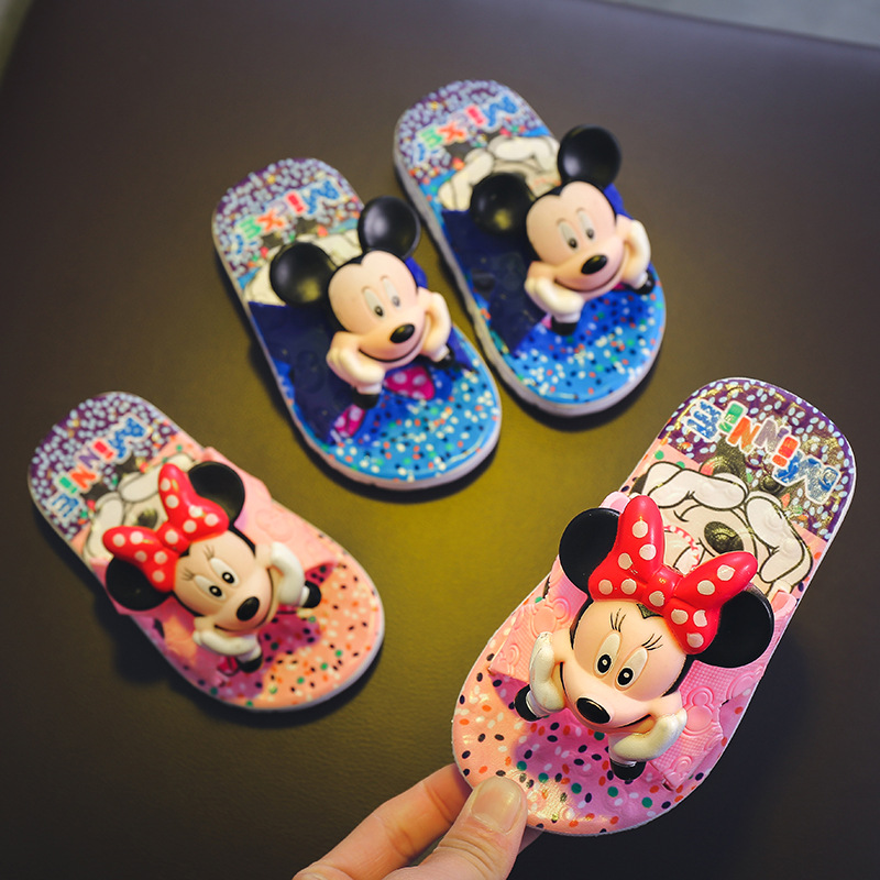 Summer Baby Boys Slippers Flip Girls Flop Children Sandals Cartoon Mickey Minne School Girl Beach Slipper Kids Soft Shoes Sandal