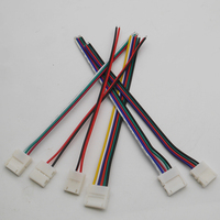 5pcs 2pin 3pin 4pin 5pin 6pin Welding free connector single clip Connector Cable For 3528 5050 RGB RGBW RGBWW LED strip light