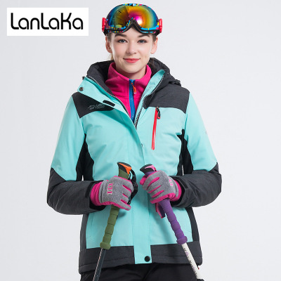LANLAKA NEW Brand Ski Jacket Women Skiing Snowboarding jackets Warm Snow Coat Breathable 7 Color Optional Ski Jackets Female цена