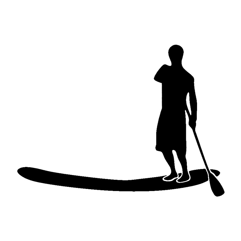 Stand Up Paddle Decal Window Sticker or Decal for Car Body or Window Car Stickers for Women Stand Up Paddle Board Decal