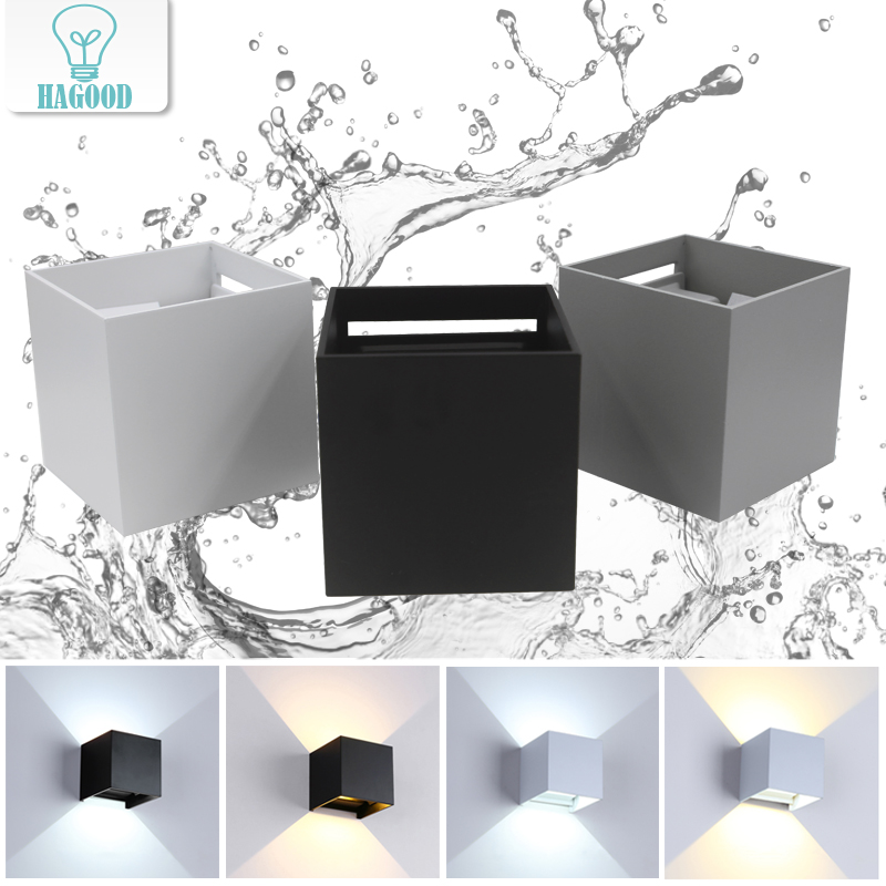 12W Surface Adjustable Dimmable Sconce AC85-265V Waterproof IP65 LED Wall Lamps Wall-mounted Outdoor Garden Lighting Fixtures