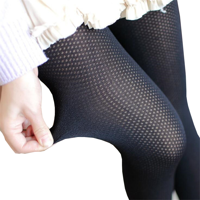 CUHAKCI Women Tights Stocking Hollow Out Sexy Pantyhose Female Mesh Black Club Party Hosiery 2019 Tights Slim Fishnet Stockings image