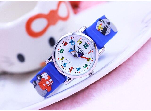 New cars Cartoon 3D children watches students kids wristwatch fashion Children's watch for boy clock Ladies Relogio kol saati