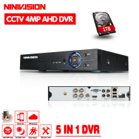 NINIVISION 4CH 4MP AHD DVR Digital Video Recorder For CCTV Security Camera Onvif Network 16Channel IP