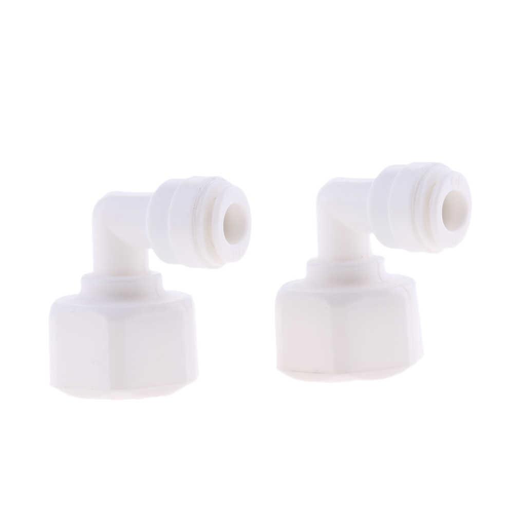 5 Buah 3/8 Inch Pushfit untuk 1/2 Inch Thread Ball Valve Konektor Pas Kulkas Pipa, ro Reverse Osmosis Air Tabung