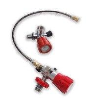 Acecare гПа 4500PSI бак для пейнтбола винтовка PCP Air Rifilling комплект красный предохранительный клапан с АЗС со шлангом Прямая доставка