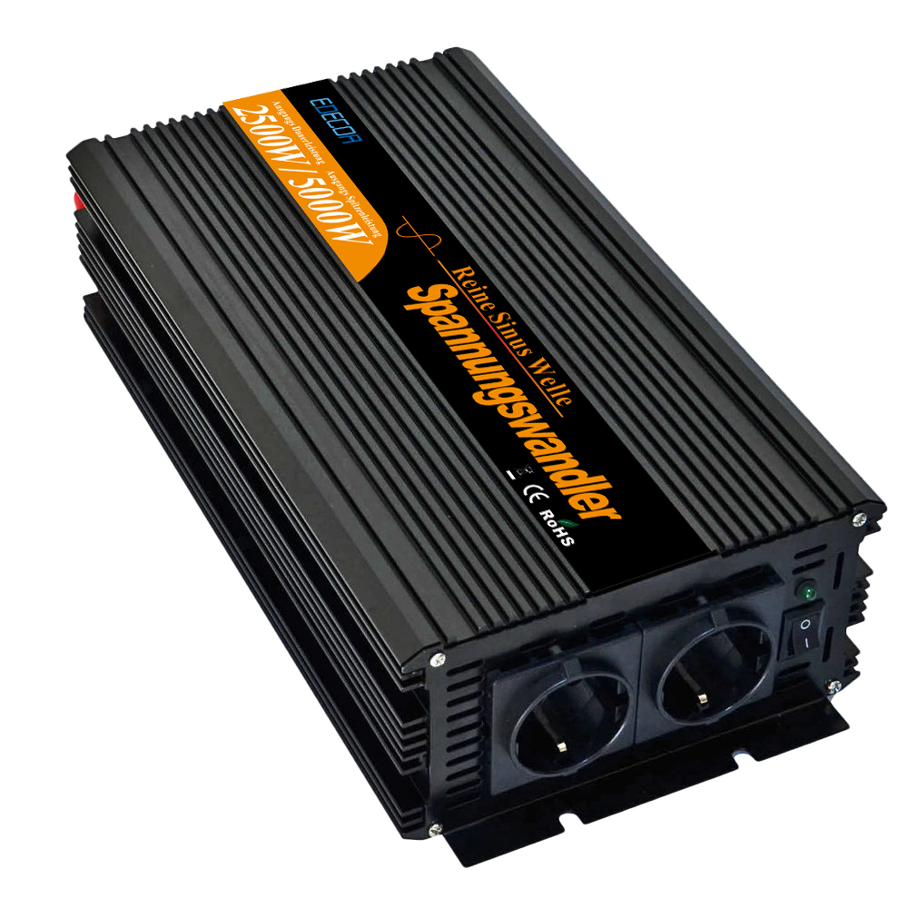 DC 24V to AC 220V 2500W 5000w pure sine wave power inverter with remote controller converters-in Inverters & Converters from Home Improvement    1