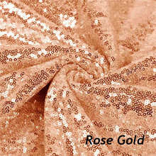 2Yard Embroidery Sequin Fabric Material Rose Gold Sparkly Used to Make Clothes Shoes Bags Wedding Partie Event Decor -527