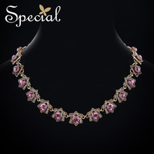 Special Brand Fashion European Style Necklaces & Pendants Ctystal Star Maxi Necklace Jewelry Gifts for Women S1731E