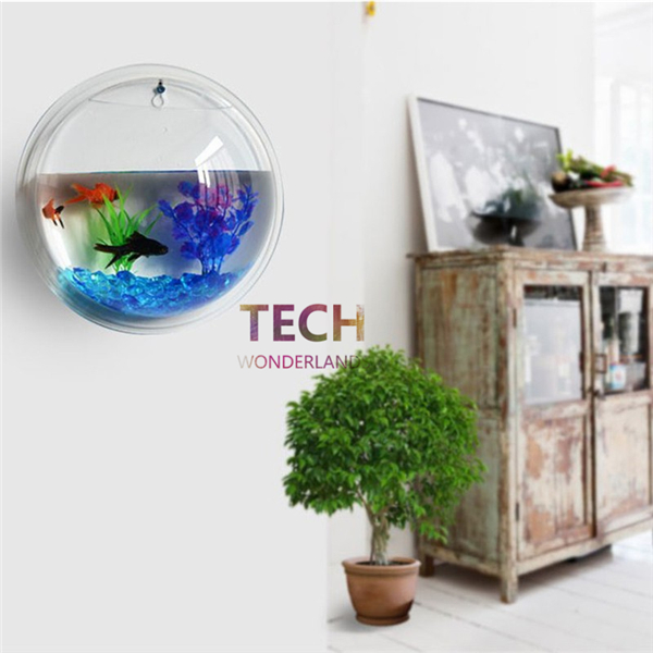 stunning aquarium landscaping plant wall hanging bubble aquarium bowl fish tank for home. Black Bedroom Furniture Sets. Home Design Ideas