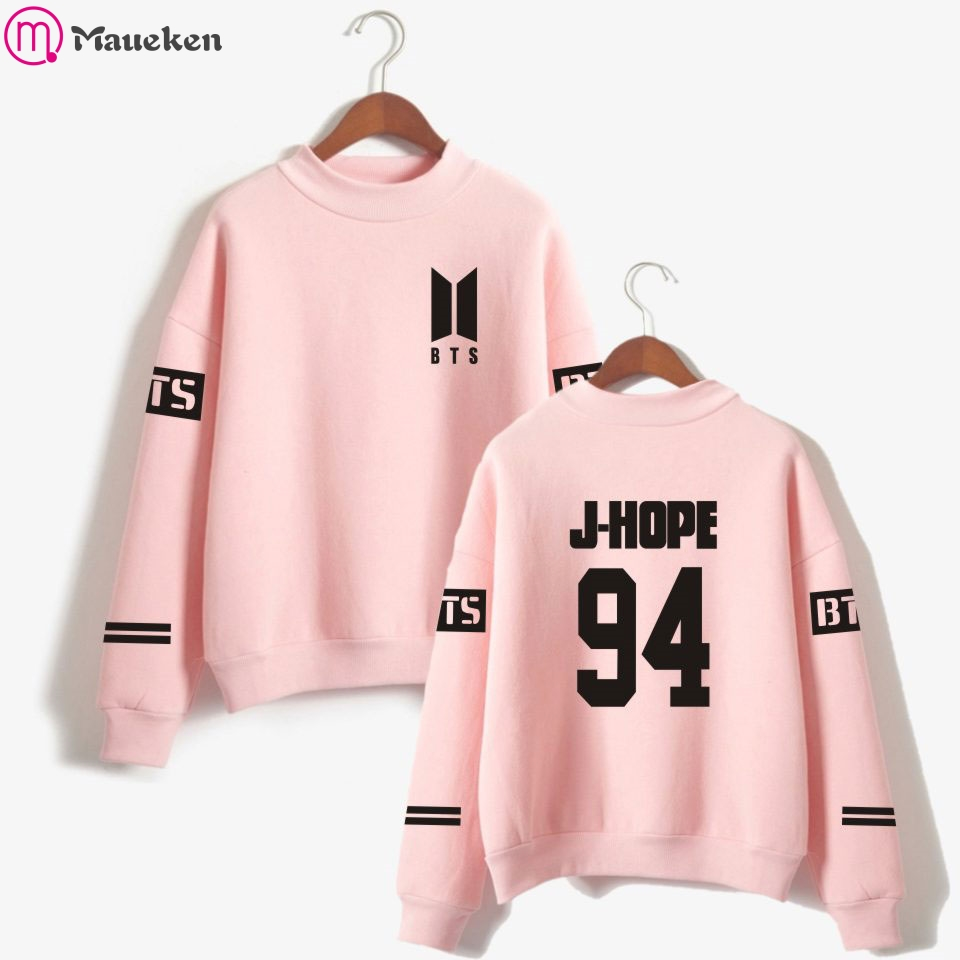 BTS Love Yourself kpop Casual Sweatshirts Bangtan boy outwear Hip-Hop Women  and men Sweatshirt d8e10b541