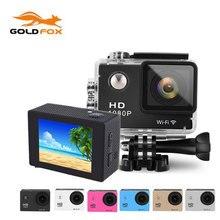 Новый goldfox 1080 P hd действие камера 30 м водонепроницаемая камера спорта dv мини видеокамера 12mp шлем камкордер автомобиля