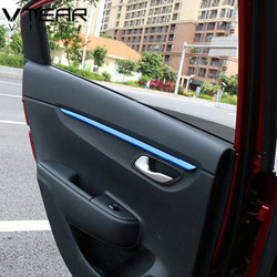Vtear For Rio 4 X-line interior door plate trim cover armrest chrome Mouldings car-styling decoration accessories part 2017 2019