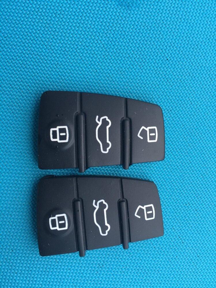 2 Teile/los 3 Taste Ersatz Reparatur Haut Flip Folding Auto Schlüssel Shell Fall Gummi Pad Für Audi A3 A4 A5 A6 A8 Q5 Q7 Tt S Linie Rs Einen Effekt In Richtung Klare Sicht Erzeugen