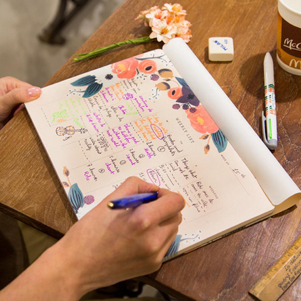 50 Sheets Weekly Planner Desk Memo Notebook Can Tear Weekly List Agenda Schedule Organizer for 50 Weeks Office School Supplies 83 9 66cm weekly planner office chalkboard blackboard black chalk board sticker