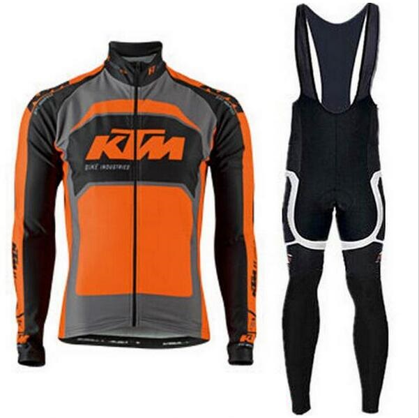 Цена за Pro team Ktm Велоспорт Трикотажные Ропа Ciclismo майо/Длинный Рукав Велосипед одежда мужская Велосипедов одежда велосипед одежды