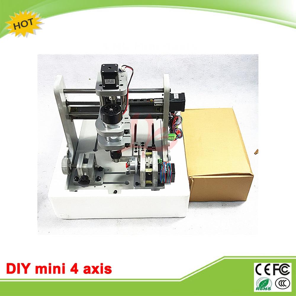 Cheap LY DIY mini CNC 4 axis router mini CNC milling machine free tax to RU EU free tax to eu cnc router frame cnc parts 6040z with ball screw diy cnc router engraver milling machine