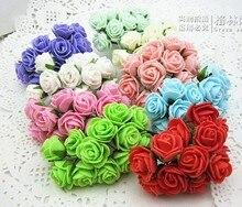 144pcs/bag 2.5cm DIY Artificial Mini Foam rose  Flower Wedding Invational Candy Boxes favor party gift favor 9 color wa004 цена 2017