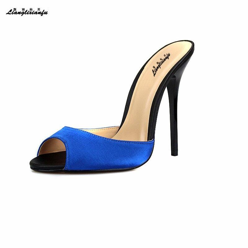 Pantoufles bleu Escarpin pu Llxf Stiletto 17 vert Mince Cm 18 Arrivé marron Été Us15 16 jaune Mujer Sandales Noir Femme Talons 19 Chaussures Zapatos Nouveau rouge Ciel Classique 14 Rouge gRSqRd