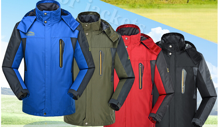 8XL Men's Spring and Autumn men hooded jacket waterproof breathable jacket stitching loose, casual jacket man