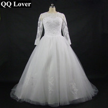 2017 New Arrival Long Sleeves Vestido De Noiva Bridal Gown Ball Gown Custom-made Plus Size Wedding Dress Robe De Mariage