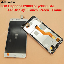 FOR Elephone P9000 or p9000 Lite LCD Display +Touch Screen +Frame Original Digitizer Assembly Replacement Accessories For Phone for elephone s3 lcd display touch screen frame tools 100% original digitizer assembly replacement accessories for phone