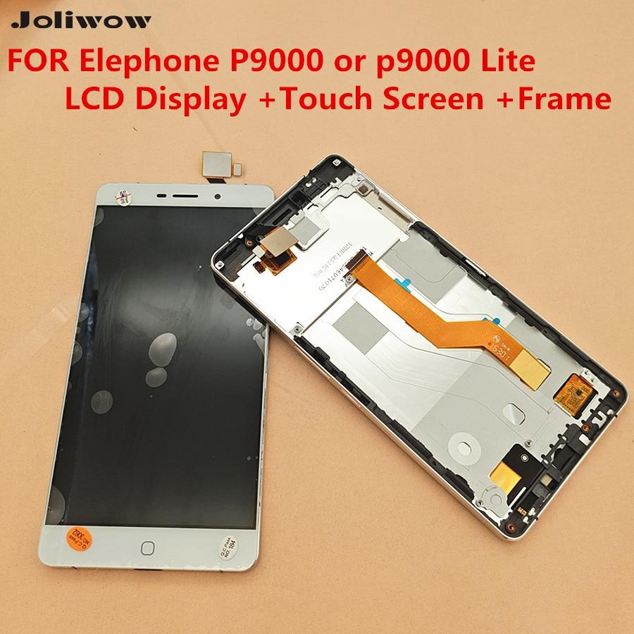 Para elephone p9000 LCD o p9000 Lite pantalla LCD + pantalla táctil + Marcos + toos reemplazo de la Asamblea del digitizador